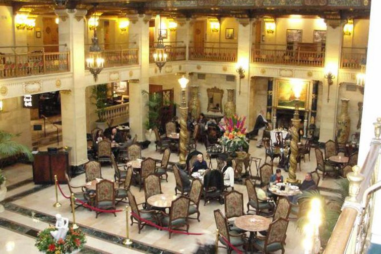 The Historic Davenport Hotel lobby