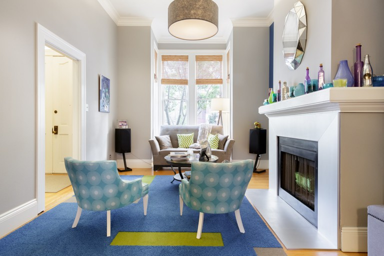 You can stroll to the Painted Ladies from this colorful, remodeled 1885 Victorian home