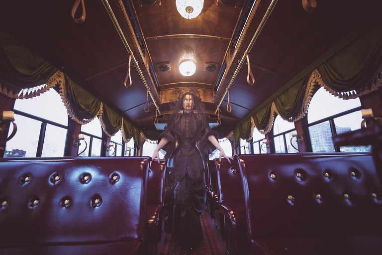 Madame Morbid's Trolley Tours in Williamsburg, Brooklyn, New York.