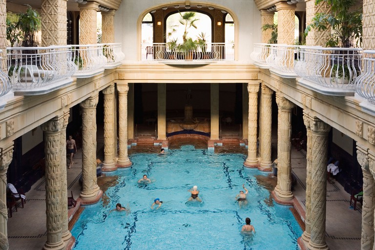 The Gellért Thermal Baths are housed within an Art Nouveau-era building