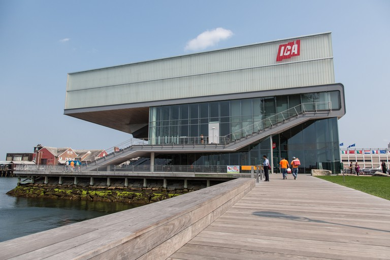 The exterior of the Institute of Contemporary Art in Boston, Massachusetts