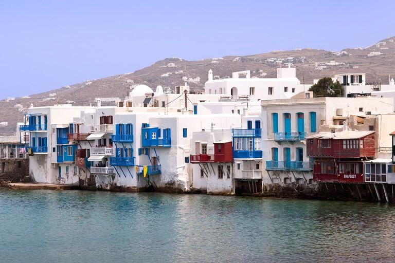Island of Mykonos in the Cyclades Islands, Greece.