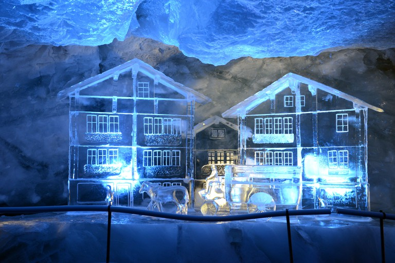 The Glacier Palace houses a variety of impressive ice sculptures