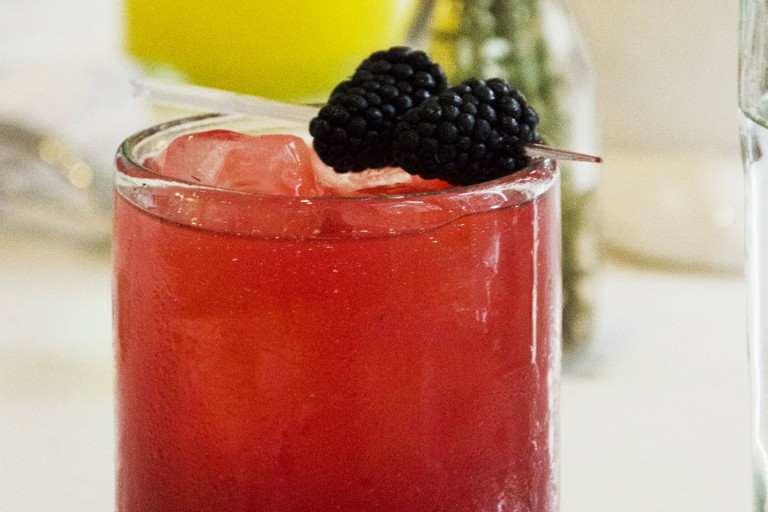 The Dandy: a blackberry cocktail on the new drinks menu at Dorregos's in the Hotel Valencia