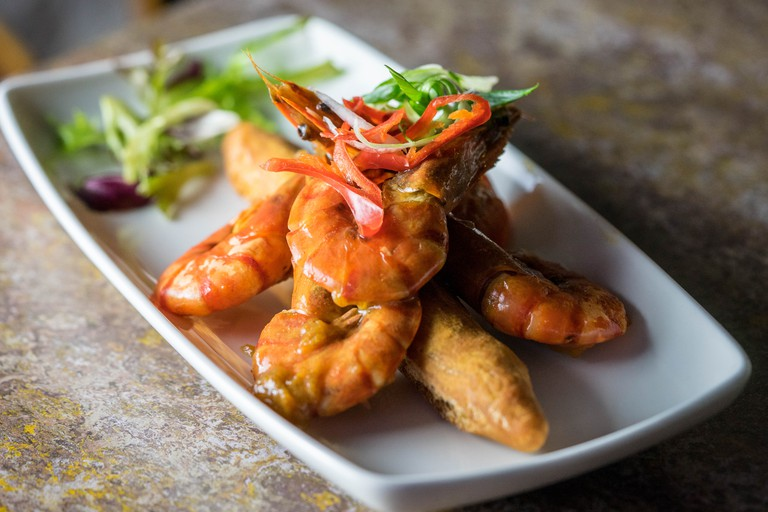 The peppered shrimp is just one of the treats on offer at Ma Petite Jamaica