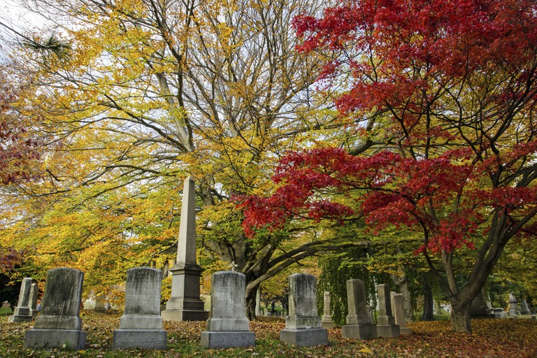 A number of famous people are buried at Green-Wood Cemetery