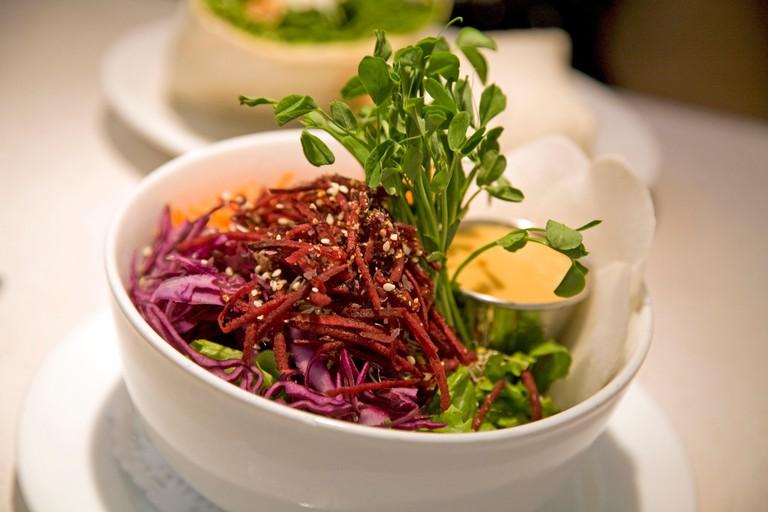 """""""Dragon Bowl"""" Salad, Aux Vivres, Plateau Area, Montreal, Quebec provence, Canada"""