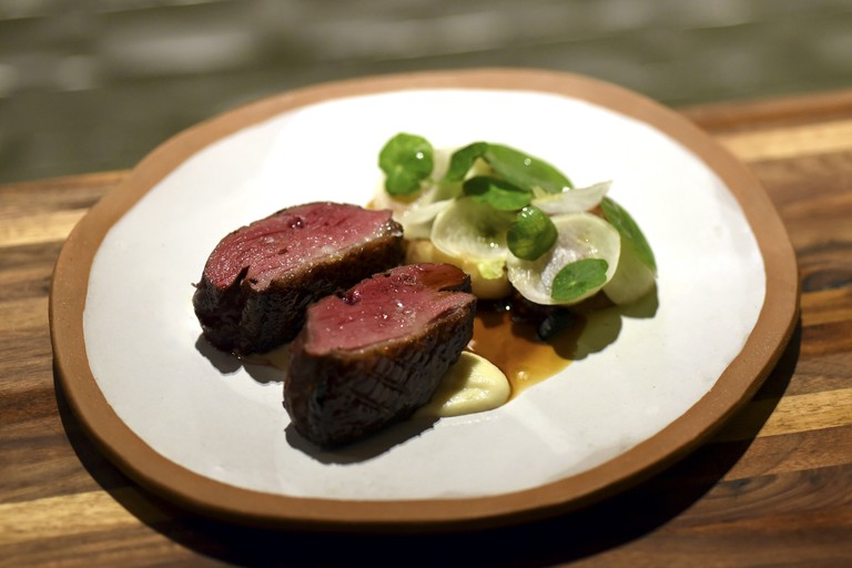 Faro offers dishes such as dry-aged duck breast with turnip