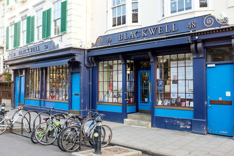 Blackwell's bookshop, 48-50 Broad Street, Oxford UK