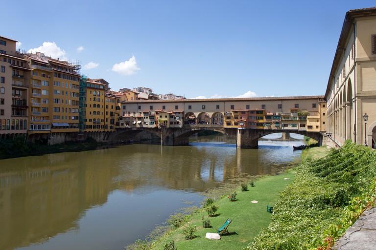 The Ponte Vecchio, Florence, Italy.