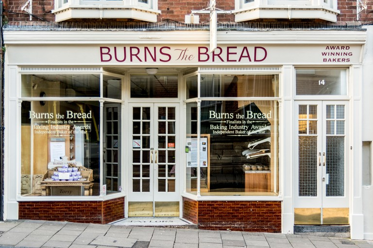 Shop - Burns the Bread bakery, Glastonbury, Somerset, England.