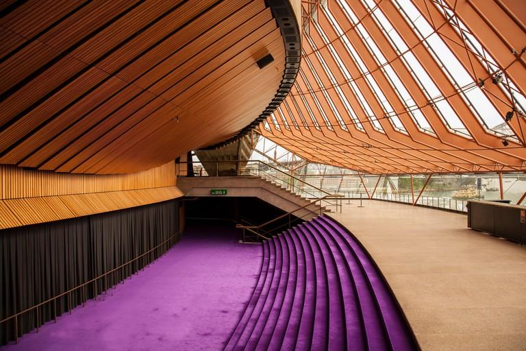 Interior view of the Sydney Opera House, Australia.