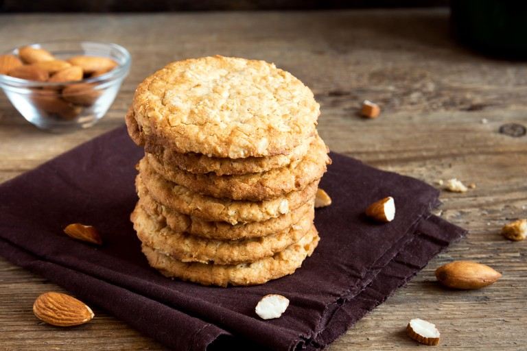 Homemade vegan almond cookies