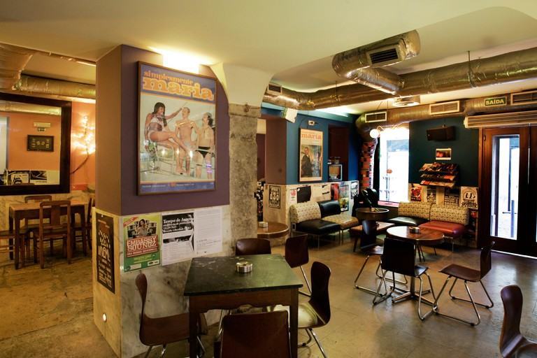 General view inside of the Maria Caxuxa bar at Bairro Alto  downtown in Lisbon,Portugal.