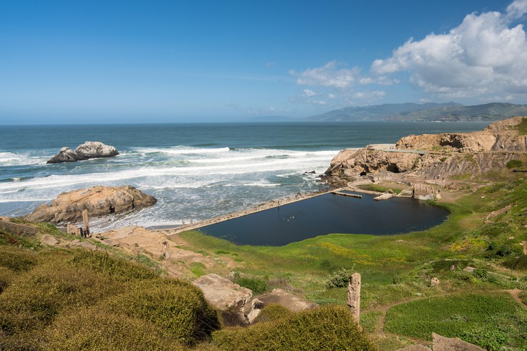 Remains of Sutro Baths Point, San Francisco.