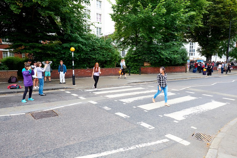 Zebra crossing outside Abbey Road Studios, London