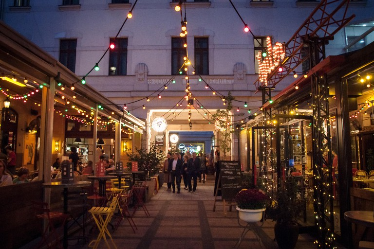 The Gozsdu Courtyard, once the core of Budapest's Jewish quarter, today is popular place with restaurants, pubs and bars.