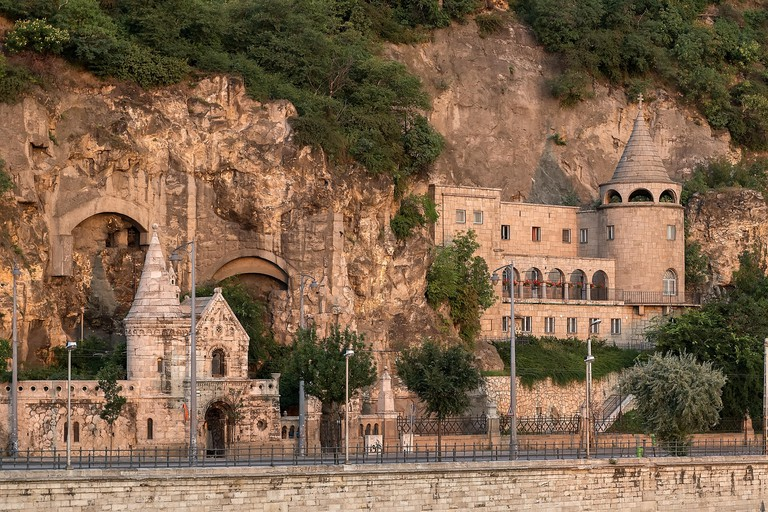 Monastery built in the cave of Gellert hill, Budapest, Hungary.