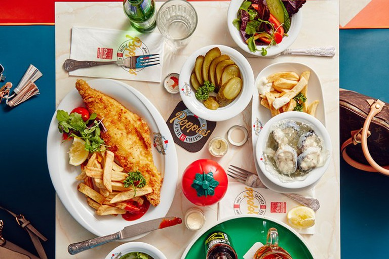 A typical order at Poppie's will always feature fish and chips