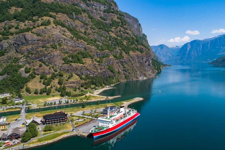 Cruise in Sognefjorden, Norway.