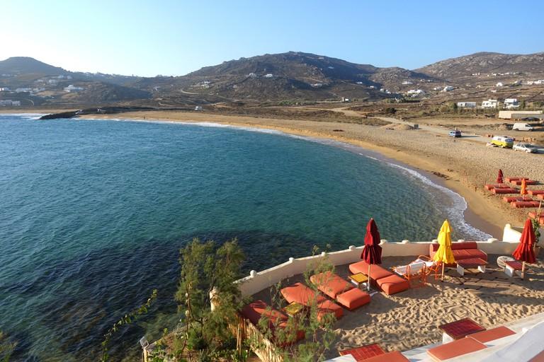 Ftelia beach, Mykonos, Cyclades, Greece.