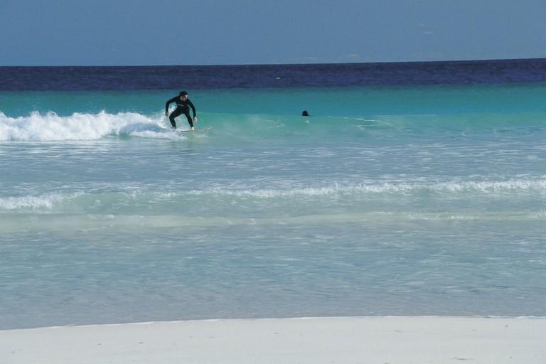 Surfing at Lancelin © Tourism Western Australia