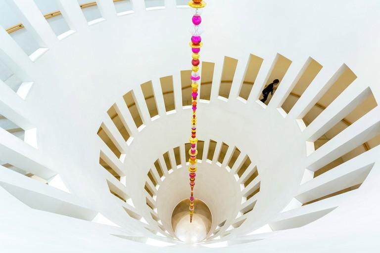 Spiral staircase, Leeum, Samsung Museum of Art, Seoul, South Korea