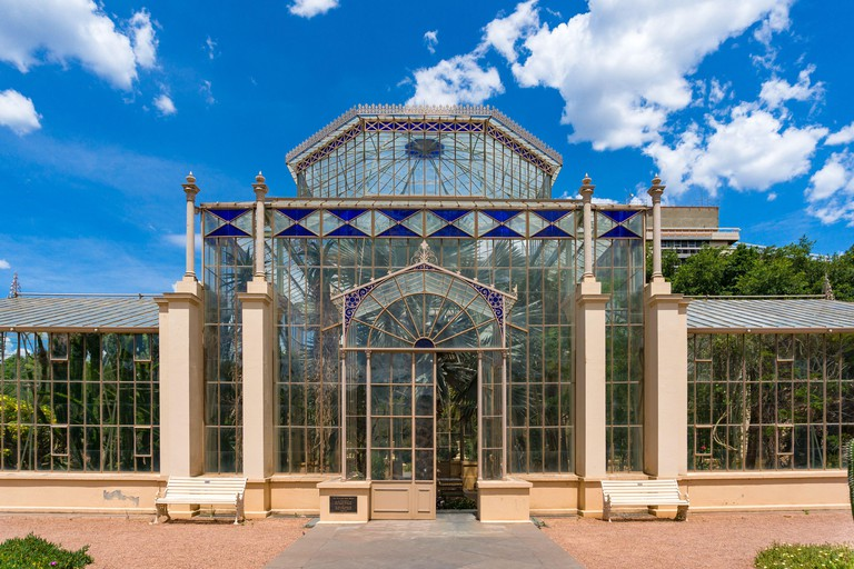 The Palm House in Adelaide Botanic Garden