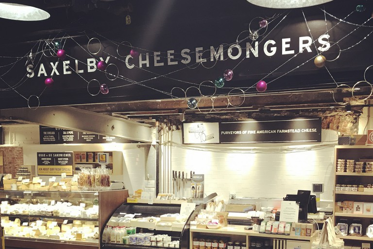 Saxelby Cheesemongers' favorites include cheddar, camembert, cremont and roquefort