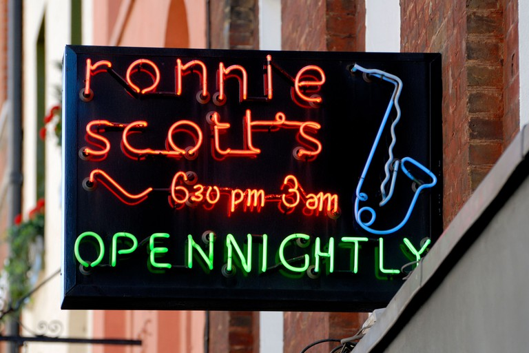 Ronnie Scott's jazz club opened in 1959
