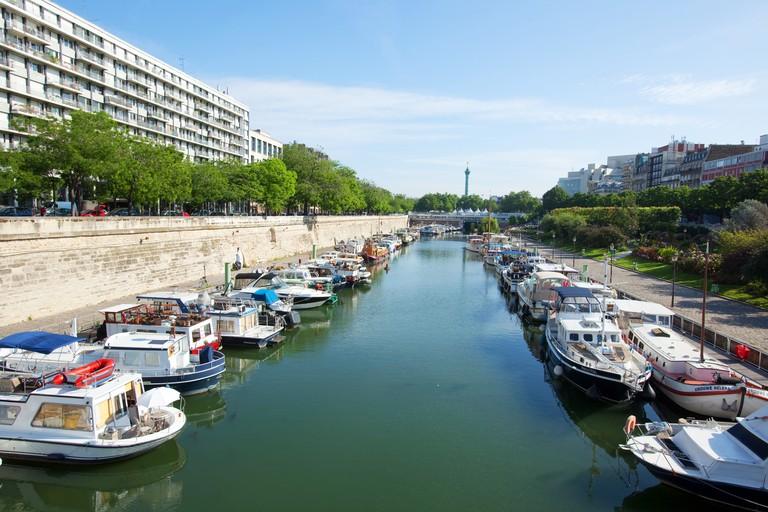 Bassin de l'Arsenal, Canal Saint-Martin, Paris.