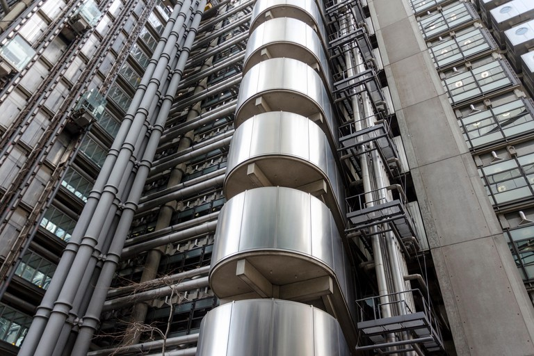 The Lloyd's building is the headquarters of an insurance company