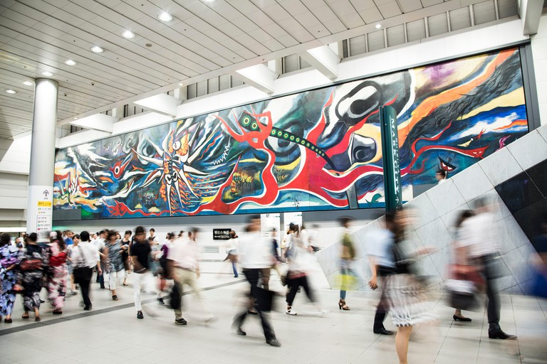 The Myth of Tomorrow by Taro Okamoto in Shibuya Station, Shibuya-Ku, Tokyo, Japan