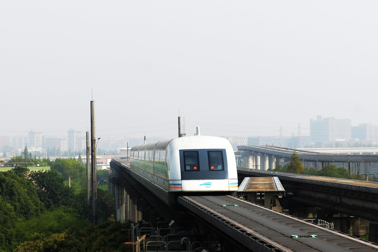 The Maglev train in Shanghai