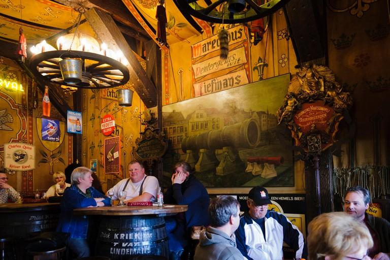 Dulle Griet Pub, Vrijdagmarkt 50, Ghent, Belgium, Europe.
