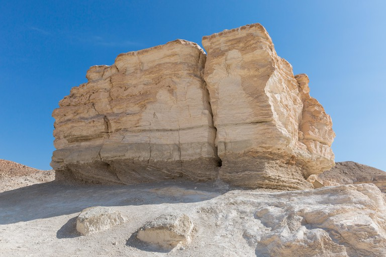 Mount Sodom on the coast of the Dead Sea in Israel