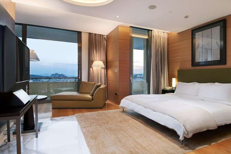 The Hilton Athens is the epitome of modern design