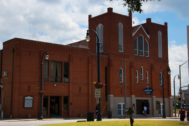 The Ebenezer Church in Atlanta where Martin Luther King Jr was the pastor, Georgia, USA.