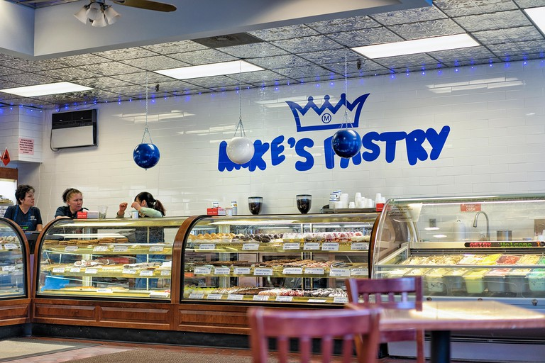 Pastries and gelato are for sale at Mike's
