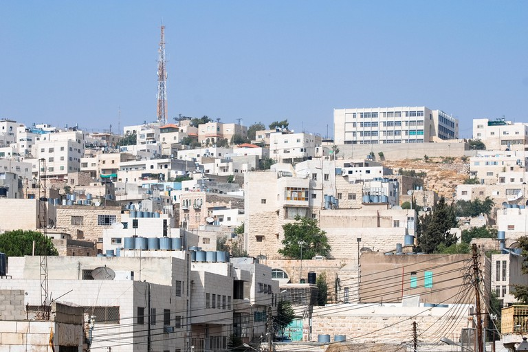 View of traditional buildings in Hebron, Israel.