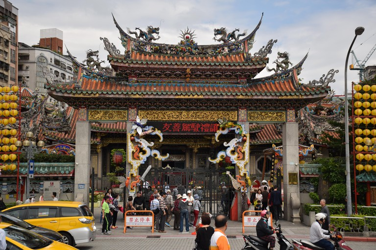 Longshan buddhist temple in Taipei, Taiwan