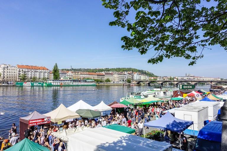 Náplavka farmers' market, Prague