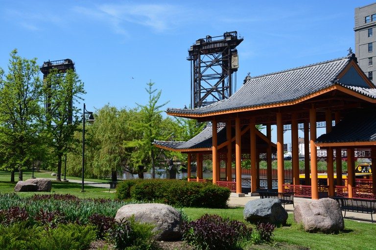 Ping Tom Memorial Park is situated along the Chicago River