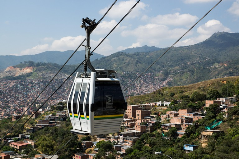 Cable car in Medellin