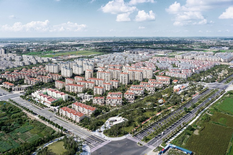 The new town at Chongming Island
