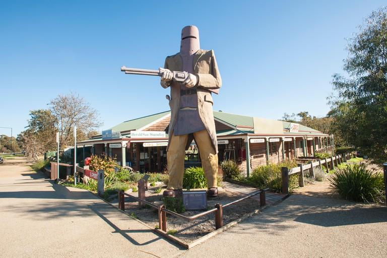 Statue of Ned Kelly, Glenrowan, Victoria, Australia