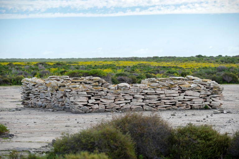 The inland fort on West Wallabi island was constructed by Dutch soldier Wiebbe Hayes and other survivors of the Batavia shipwreck