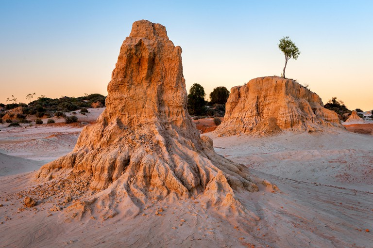 Sandformation in Mungo National Park.