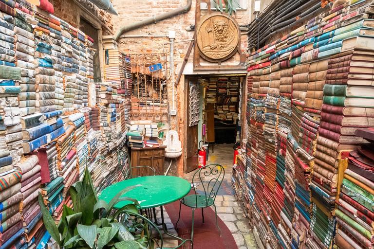 Libreria Acqua Alta in Venice, Italy