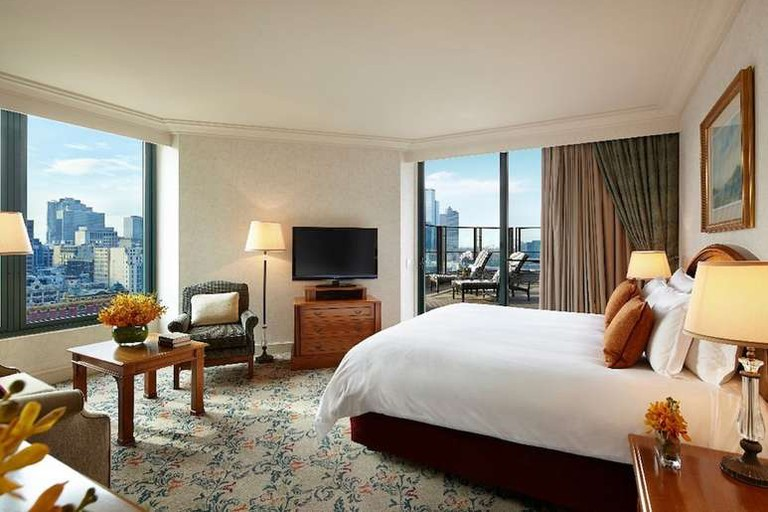 Look out over Melbourne from your room at The Langham